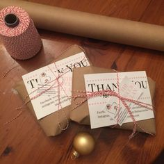 Brown paper packages tied up with string....loving my new packaging :) who said there needs to be a special occasion to get a wrapped package in the mail?