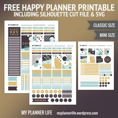 Free Printable – Happy New Year 2018 – My Planner Life