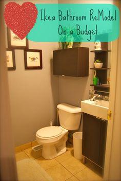 Julia Kendrick.com: Ikea Bathroom ReModel on a Budget...Like the arrangement of the pics