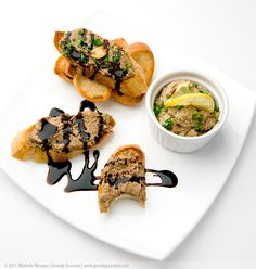 Mushroom & Black Garlic Pâté from Greedy Gourmet. Full recipe at http://www.greedygourmet.com/recipes-by-course/starters/mushroom-black-garlic-pate/