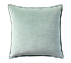 Washed Velvet Pillow Cover, blue smoke, x 2