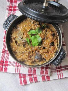 La cuisine d'ici et d'ISCA: Curry d'aubergine