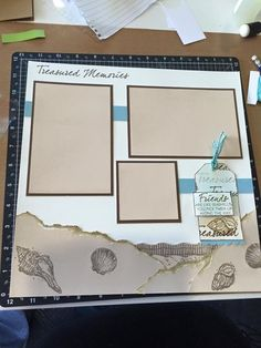 I created this layout using CTMH Treasured Friendship stamp set. Tag on the page came from Di Thomas.