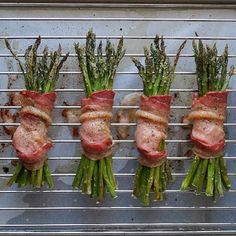 Recipe: <br> <br> 1 lb or 1 large bunch asparagus<br> 4 slices bacon (be sure it's compliant!) or…