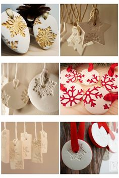 ❤Putting decorative clay ornaments on a gift would look so pretty!!❤ use that same home bake clay? yes, please!