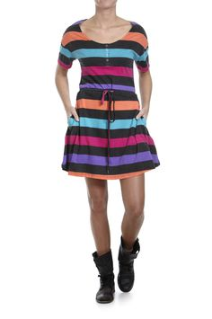 Twist & Tango colorful striped dress Tango, Striped Dress, Colorful, Dresses, Fashion, Stripe Dress, Fashion Styles, Fringe Dress, Dress