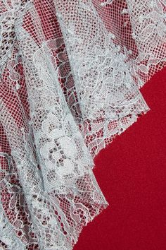 Philosophy di Lorenzo Serafini - Lace-paneled Crepe Top - Red - IT48