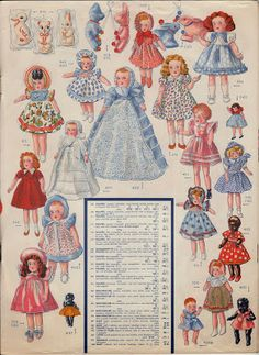 Dolls from Vintage Toy Catalog many pages