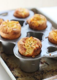 Charred Corn, Pancetta and Cheddar Popovers with Sun-Dried Tomato ...