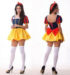 Halloween Costumes Adult Charming Snow White Princess Costume Fancy Dress Cosplay Costumes for Women Adult Disney Costumes, Buy Halloween Costumes, Disney Princess Costumes, Cool Costumes, Costumes For Women, Cosplay Costumes, Diy Dress, Fancy Dress, Snow White Costume Adult