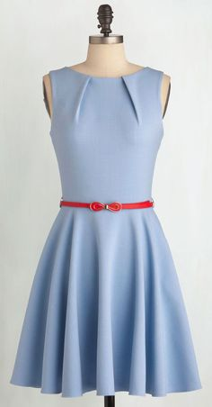 Luck Be a Lady Dress in Powder Blue / Luv the sillouette of this dress