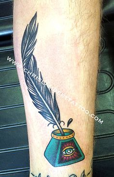 Feather Quill Pen Tattoo