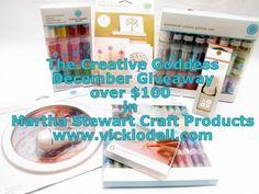 http://www.vickiodell.com/december-giveaway-martha-stewart-craft-supplies/