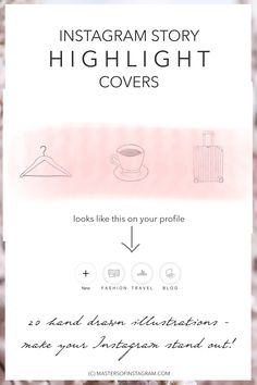 Freebie 10 girly instagram story templates big cat creative instagram story highlight covers hand drawn and uniquely illustrated so your instagram will stand out ccuart Images