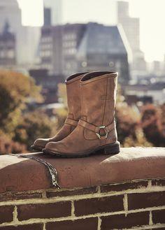 Perfect for fall Strolls. Stoddard waterproof biker boots. #timberland  #inmyelement