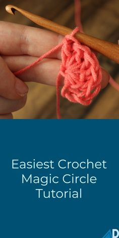 Easiest Magic Circle with Crochet The magic circle can be a bit complex to figure out, although with Ashley's help with video tutorials and a photo tutorial, you will have no trouble at all! # magic circle crochet for beginners Crochet Circle Pattern, Magic Circle Crochet, Magic Ring Crochet, Crochet Circles, Crochet Blanket Patterns, Beginner Crochet Tutorial, Crochet Stitches For Beginners, Beginner Crochet Projects, Crochet Instructions