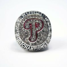 Philadelphia Phillies 2008 World Series Solid Championship Ring - Replica  USD 28.99. #Philadelphia #Phillies #MLB #WorldSeries #SportsRings #Beautiful #Swag #Instalike #Instalove #Championship #GemsandTrinkets