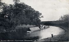 """Caption: """"SULTAN and her butty Ash near Brentford"""" #london #canal #narrowboat #brentford #middlesex #syon #park #fmc #steam #motorboat #butty #fellows #morton #clayton"""