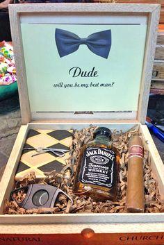 "15 Groomsmen Proposal Ideas ""Will You Be My Groomsman"" ❤ See more: http://www.weddingforward.com/groomsmen-proposal-ideas/ #wedding #groomsmen #proposal #ideas"