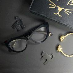 black magic  @zac_posen // #zpframes #thedigifairy #zacposen #happyhalloween #allblack #blackcat #eyewear #cateye #halloween2015 #nationalcatday