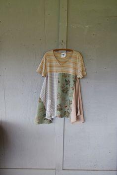 Large X Large Romantic Lagenlook tunic dress by lillienoradrygoods