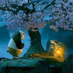 """Kun fu Panda - """"Estás preocupado por lo que fue y lo que va a ser… hay un dicho: El ayer es historia, el mañana un misterio, pero el hoy es un obsequio… por eso se le llama presente""""."""