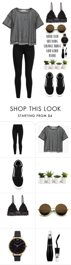 """""""Stay weird"""" by aretusa ❤ liked on Polyvore featuring Levi's, MANGO, Vans, Humble Chic and Olivia Burton"""