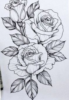 Ideas Tattoo Flower Drawing Sketches For 2019 Tattoo Design Drawings, Flower Tattoo Designs, Tattoo Sketches, Drawing Sketches, Drawing Ideas, Sketch Ideas, Pen Drawings, Drawing Step, Beautiful Flower Drawings