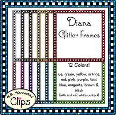 Diana Glitter Frames $ http://www.teacherspayteachers.com/Product/Diana-Glitter-Frames-Clip-Art-1584913