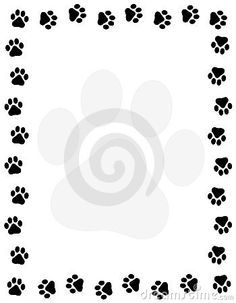 free cat clip art cat and free dog clip art borders paw prints rh pinterest com paw patrol border clipart tiger paw border clipart free