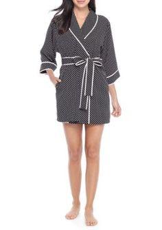 Kate Spade New York Women's Crepe Robe - Pink Dot - Xs/S
