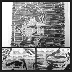 Negative space portrait on newspaper. This is a project for my photoshop guru