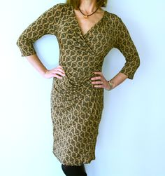 Inspired by Diane von Furstenberg's iconic wrap dress, this signature style of dress graciously accentuates all the right areas at an affordable price. Flattering women with curvaceous hips, bust and thighs.