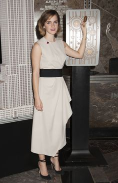 Emma Watson Lights The Empire State Building for International Women's Day in NYC 3/8/16