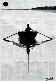"Saatchi Online Artist: Loui Jover; Pen and Ink, Drawing ""a simple plan"""