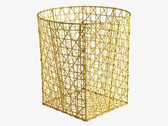 HATCH YELLOWS Metal Yellow metal bin - HabitatUK #ourHabitat