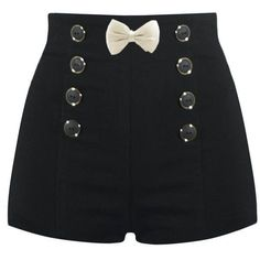 High Waisted Sailor Shorts ❤ liked on Polyvore featuring shorts, bottoms, sailor shorts, high-waisted shorts, high rise shorts, highwaist shorts and highwaisted shorts