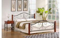 Postel Halmar Violetta 160 x 200 cm Leather Headboard, Wood Headboard, Upholstered Bed Frame, Upholstered Ottoman, Bedroom Bed, Bedroom Furniture, Steel Sofa, Ottoman Bed, Mattress Springs