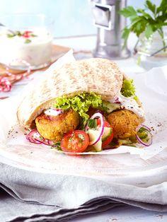 Immer lecker: Falafel in Vollkorn-Pita