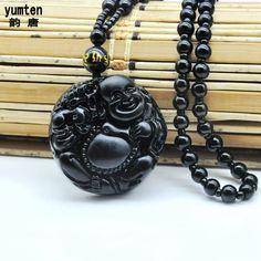 Black Women Men Unisex Necklaces Pendant Nature Obsidian Stone Charms Buddha Bijoux Femme Jade Kehribar Kettingen Voor Vrouwen. Yesterday's price: US $8.58 (7.01 EUR). Today's price: US $5.49 (4.50 EUR). Discount: 36%.
