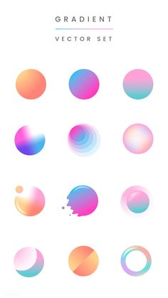 Colorful gradient badge vector set premium image by rawpixel com taus - Graphic Design Trends, Graphic Design Posters, Graphic Design Illustration, Graphic Design Inspiration, Typography Design, Moon Illustration, Game Design, Graphisches Design, Logo Design