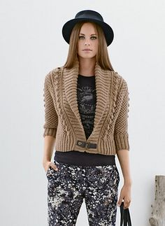 Ravelry: 714 - Short Shawl Collar Jacket pattern by Bergère de France