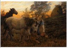 Returning Home by Edward Robert Hughes :: artmagick.com