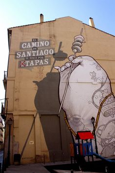 Street art Spain. To learn more about #Bilbao | #Rioja, click here: http://www.greatwinecapitals.com/capitals/bilbao-rioja