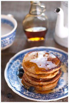 Pancakes super gourmands à l'épeautre complet et son d'avoine ( IG très bas, Sans lait )