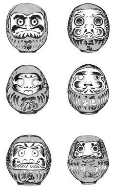 Before the manga 'Darumafish' came the concept of daruma. the daruma of darumafish Japanese Tattoo Art, Japanese Tattoo Designs, Japan Kultur, Daruma Doll Tattoo, Tattoo Oriental, Mangas Tattoo, Japanese Folklore, Japan Tattoo, Irezumi Tattoos