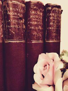 5 DOLLARS EACH ~Antique Books ~Burgundy ~Maroon ~Thomas Carlyle by beachbabyblues, $5.00