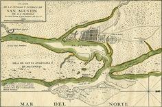Plano de la Ciudad y Puerto de San Agustin de la Florida   Source: State Library and Archives of Florida (flickr)