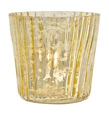 Gold Mercury Glass Candle Holder (Set/6)