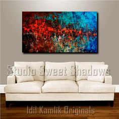 Original Modern ABSTRACT PAINTING Textured by StudioSweetShadows